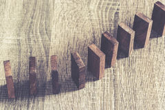 Wooden Dominoes Royalty Free Stock Photography