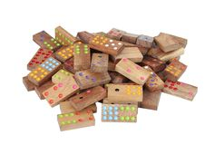 Wooden dominoes isolated on white background royalty free illustration