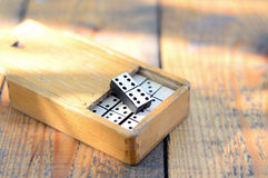 Wooden dominoes set Stock Image