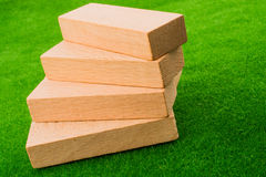 Wooden dominos Stock Photo