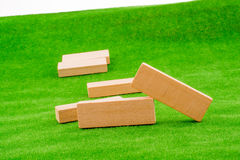 Wooden dominos Royalty Free Stock Photography