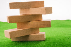 Wooden dominos Stock Images