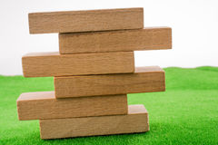 Wooden dominos Stock Photography