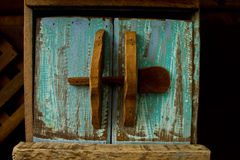 Wooden Door. Urban style wooden door of postbox Stock Photos