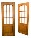 Wooden door. S (with clipping paths royalty free stock photos