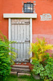 A wooden door Royalty Free Stock Photo