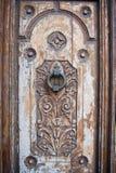 Wooden door. Old wooden church door texture Stock Images