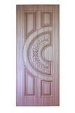 Wooden door. Isolaten on white Stock Photo
