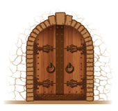 Wooden door Stock Photo