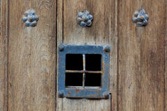 Wooden door window detail royalty free stock photo