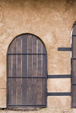 Wooden Door. Old time wooden door closed Royalty Free Stock Photography