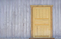 Wooden door. The door of  wooden house in the country Stock Photo