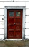 Wooden Door. Door in London stock image