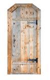 Wooden door. Beautifull wooden door on the white background royalty free stock image