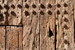 Wooden door. Detail of an old wooden door Royalty Free Stock Images