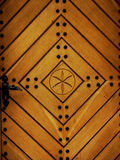 Wooden door. Wooden artistic door royalty free stock photo