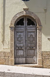 Wooden door. Acerenza. Basilicata. Italy. Stock Photography