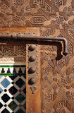 Wooden door, Alhambra palace in Granada, Spain Stock Photos