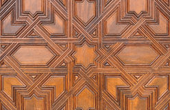 Wooden door, Alhambra palace in Granada, Spain Stock Photography