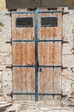 Wooden door. Altamura. Puglia. Italy. Royalty Free Stock Photography