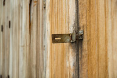 Wooden Door And Latch Royalty Free Stock Photos
