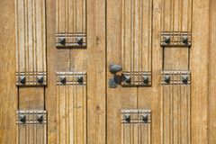 Wooden door background Royalty Free Stock Photos