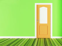 Wooden door on the background Royalty Free Stock Photo
