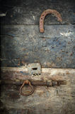 wooden door of a barn_Img 9236 Stock Photo
