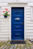 Wooden door, Bergen Stock Image