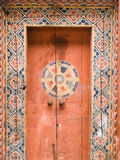 Wooden Door, Bhutan Stock Photography