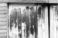 Wooden Door Black and White. An old wooden door in black and white. This image was taken in Tasmania Australia and is at a low price for today royalty free stock images