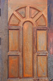 Wooden door with blanks Royalty Free Stock Photos