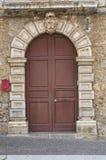 Wooden door. Brienza. Basilicata. Italy. Stock Image