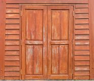 Wooden door Brown and lacquer. Wooden door of a brown and lacquer Stock Images