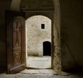 Door leading to the monastery yard Royalty Free Stock Photo