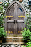 Wooden door in castle Royalty Free Stock Photography