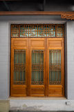 Wooden door by Chinese Style, Architecture design Royalty Free Stock Photography