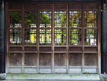 Wooden door with chinese traditional style Royalty Free Stock Photography