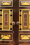 Wooden door with chinese traditional style Royalty Free Stock Photo