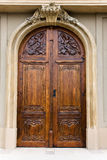 Wooden door of a church Stock Photo