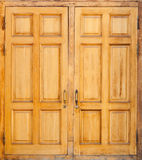 Wooden door, classical architecture background Royalty Free Stock Photos