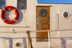 Wooden door on a cutter fishing Stock Image
