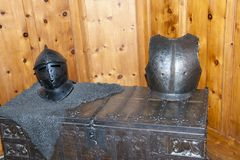 Knight chain armour, helmet and chest Royalty Free Stock Photography