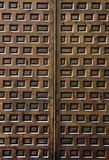 Wooden door with decorative square Royalty Free Stock Images