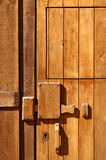Wooden door detail Stock Photography