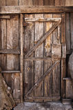 Wooden door detail Royalty Free Stock Images