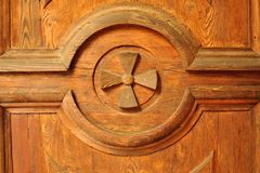 Wooden door detail Stock Image
