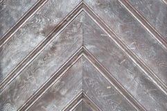 Wooden door detail. Stock Photos