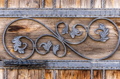 Wooden door detail Royalty Free Stock Photography
