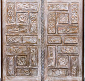 Wooden door detail Stock Image
